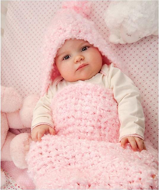 Baby Clouds Baby Cocoon CrochetKim Free Crochet Pattern
