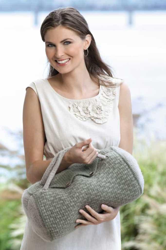 Tunisian Crochet Duffel Bag by Kim Guzman