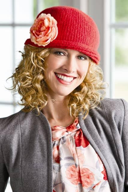 Felted Tunisian Crochet Stockinette Hat by Kim Guzman