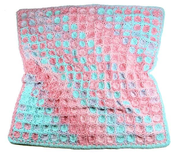 Spun Sugar Baby Blanket CrochetKim Free Crochet Pattern