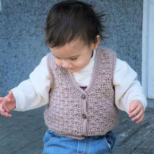 Atta Boy Vest for Baby CrochetKim Free Crochet Pattern