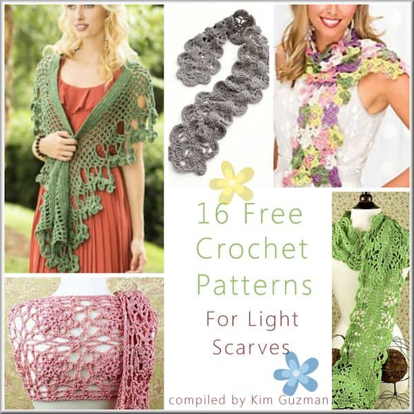 Link Blast: 16 Free Crochet Patterns for Light Lace Scarves