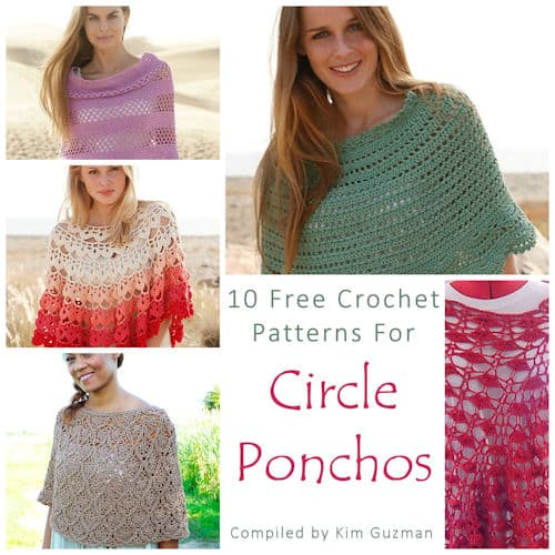 Link Blast: 10 Free Crochet Patterns for Circle Ponchos