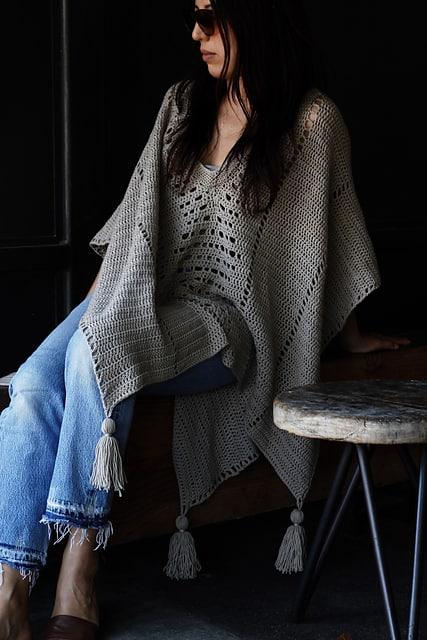 Free Crochet Pattern: Cross Country Poncho