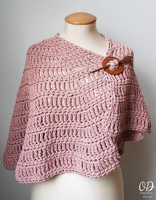 Free Crochet Pattern: Simply Casual Small Shawl