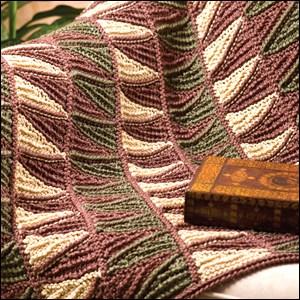 Tunisian Strip Lap Robe from Crochet World magazine, October 2009