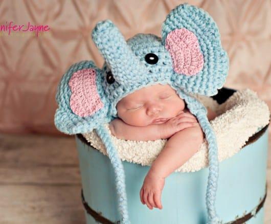 Free Crochet Pattern: Baby Elephant Hat