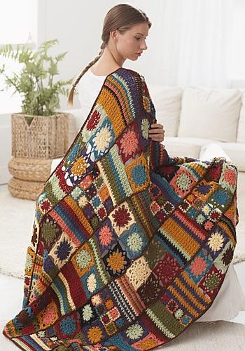 Free Crochet Pattern: Kumasi Throw