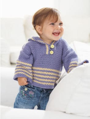 Free Crochet Pattern: On the Trail Hoodie Pullover