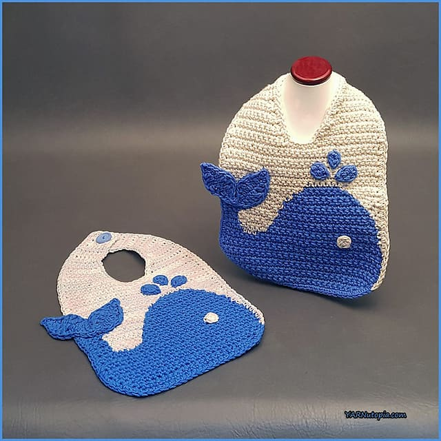 Free Crochet Pattern: The Blue Whale Bib