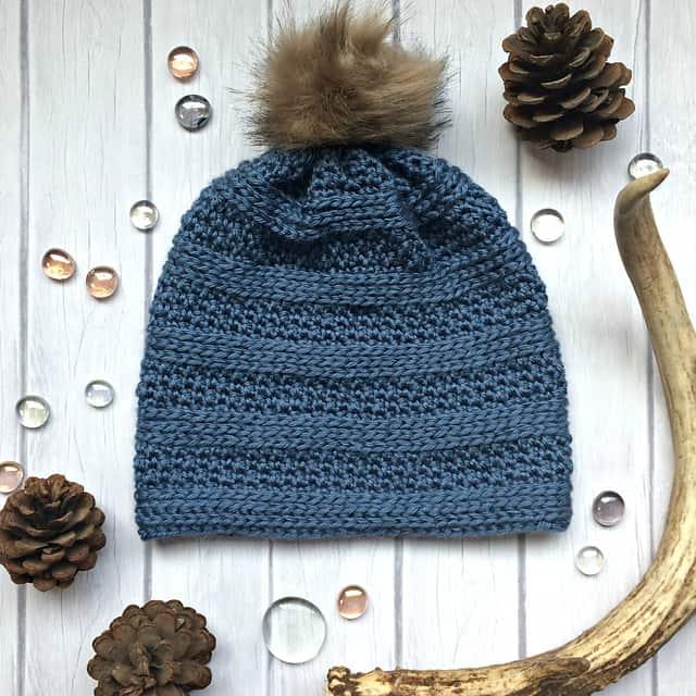 Free Crochet Pattern: Peek A Boo Beanie