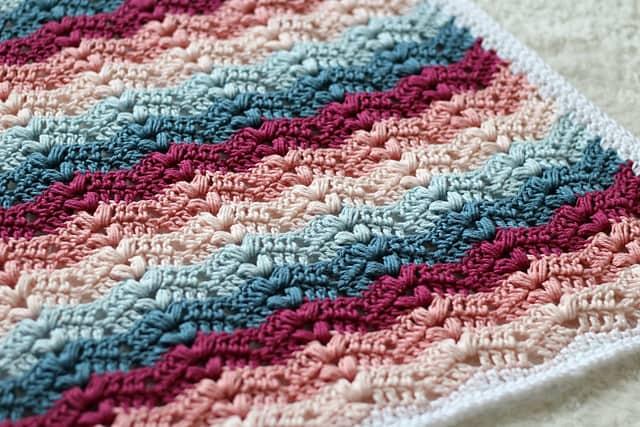 Free Crochet Pattern: Ruby Baby Blanket