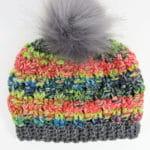 Candy Shoppe Beanie | CrochetKim Free Crochet Pattern