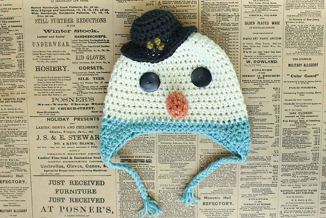 Frosty the Snowman Hat by Jess Coppom