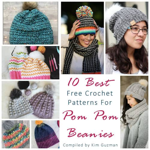 Link Blast: 10 Best Free Crochet Patterns for Pom Pom Beanies
