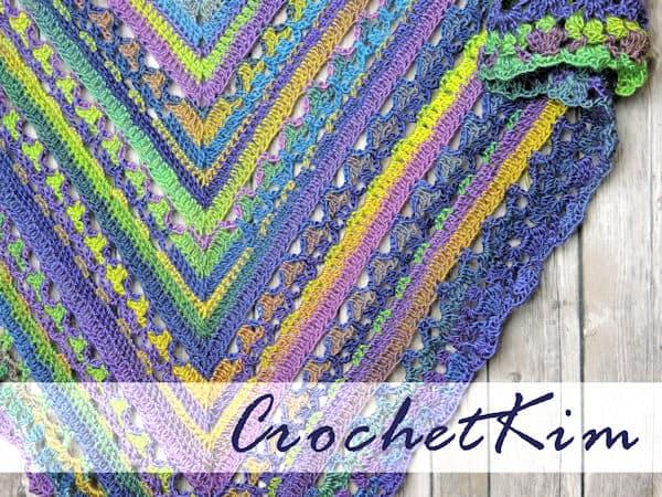 CrochetKim Free Crochet Pattern | Unforgettable Lunar Crossings Shawl @crochetkim