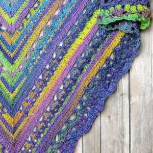 Unforgettable Lunar Crossings Shawl Free Crochet Pattern