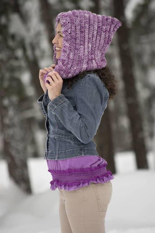 CrochetKim Free Crochet Pattern   Snow Drifts Pixie Hood @crochetkim