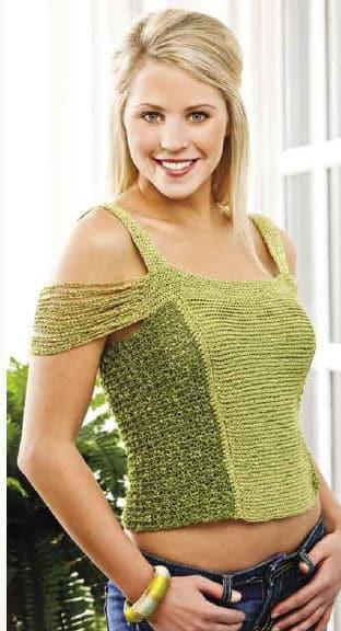 CrochetKim Free Crochet Pattern: Chain Sleeve Tank Top @crochetkim