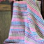 Marshmallow Twist Baby Blanket Free Tunisian Crochet Pattern