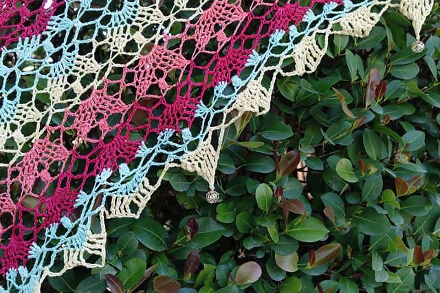Free Crochet Pattern: Sanibella Beaded Shawl