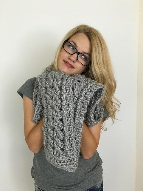 Free Crochet Pattern: Ardara Oversized Scarf