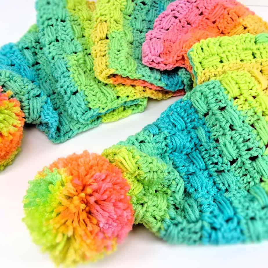 Unicorn Tracks Scarf CrochetKim Free Crochet Pattern
