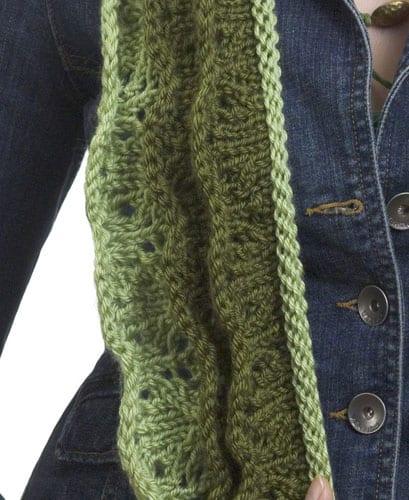 Knit Layered Scarf | CrochetKim Free Knit Pattern