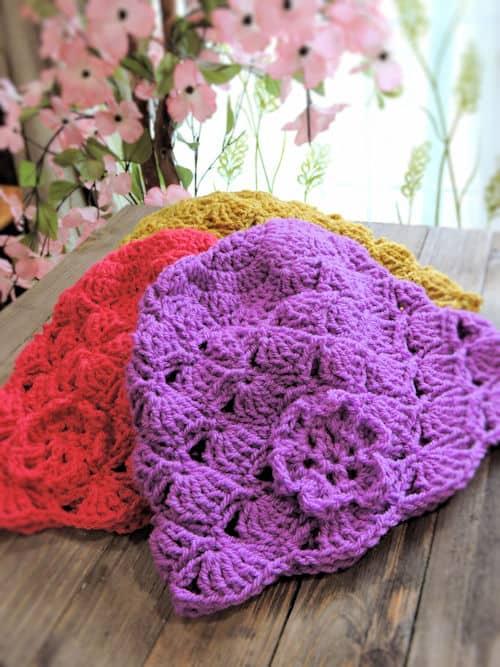 Dakota Belle Beanie 4 Sizes CrochetKim Free Crochet Pattern