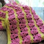 Wild Raspberries Scarf Free Crochet Pattern