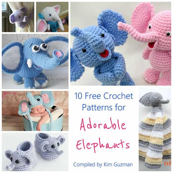 W881 Crochet PATTERN ONLY Elephant Rug Pattern | BeadedBundles on ... | 700x700