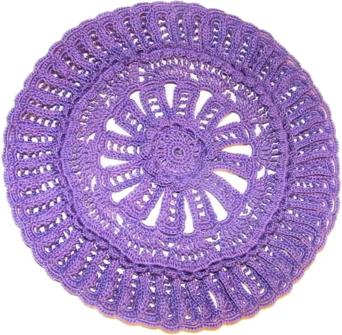 CrochetKim Free Crochet Pattern | Mandala Back Vest