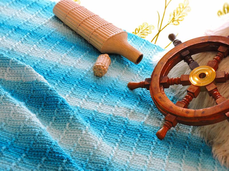 CrochetKim Free Crochet Pattern | Afternoon Tide Throw