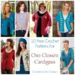 Link Blast: 10 Free Crochet Patterns for One Closure Cardigans
