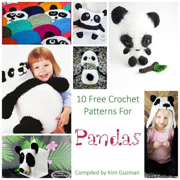 10 Free Crochet Panda Patterns - moogly | 600x600