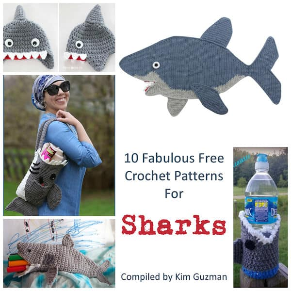 Shark Attack! – 5 Free Sea Life Amigurumi Patterns | ea1701 | 600x600