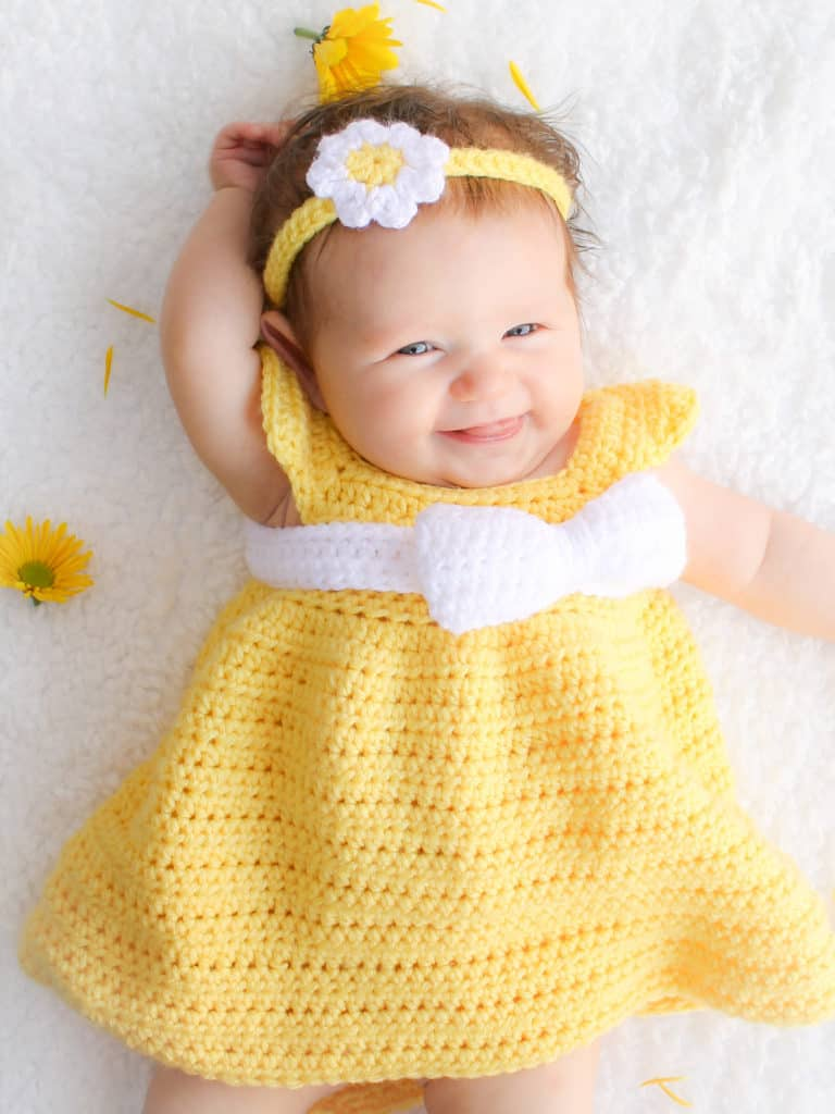 Simply Spring Baby Dress Free Crochet Pattern Crochetkim
