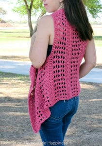 Link Blast: 10 Free Crochet Patterns for Waterfall Vests and Cardigans