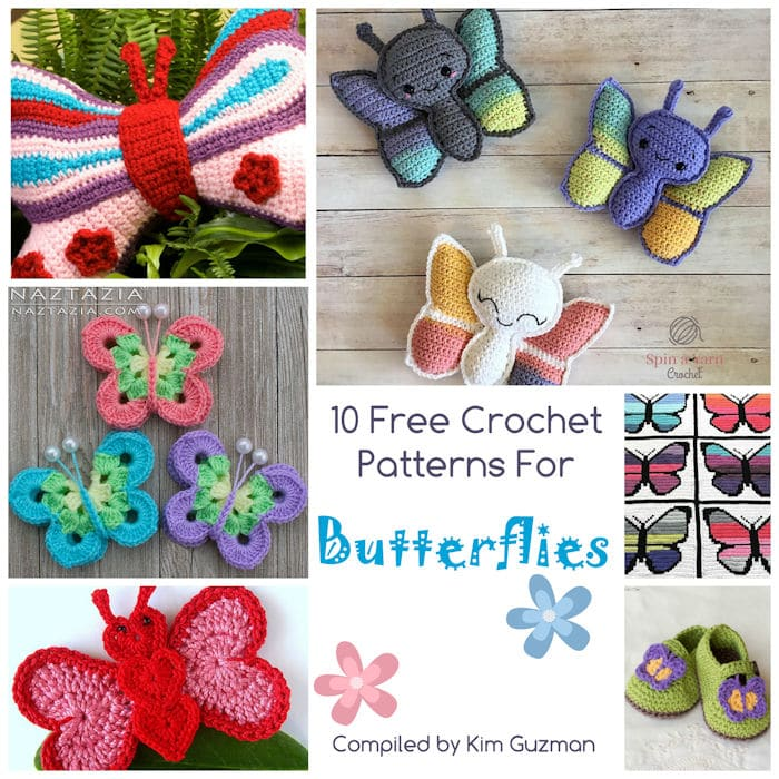 Link Blast: 10 Free Crochet Patterns for Butterflies