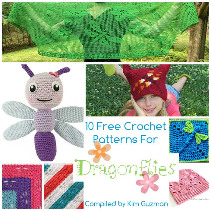 Link Blast: 10 Free Crochet Patterns for Dragonflies