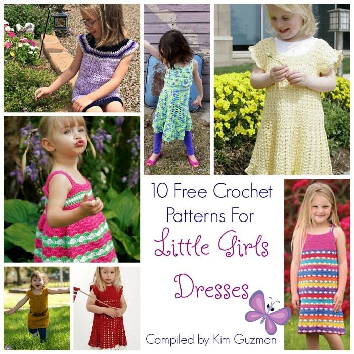 Link Blast: 10 Free Crochet Patterns for Little Girls Dresses