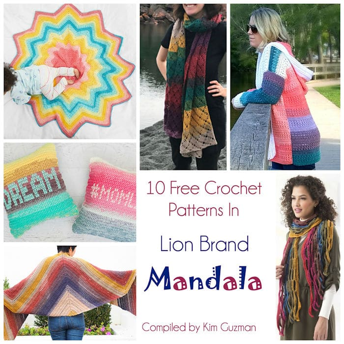 10 Fantastic Free Crochet Patterns In Lion Brand Mandala Crochetkim