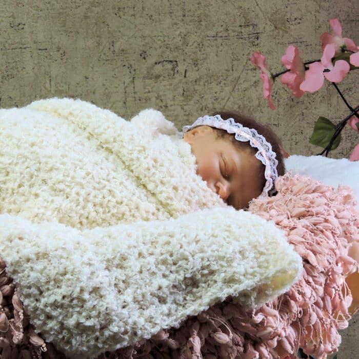 Newborn Stretchy Snuggle Wrap CrochetKim Free Crochet Pattern