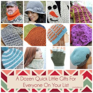 Free Crochet Patterns for a Dozen Quick Little Gifts for Everyone on Your List