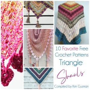 Link Blast: 10 Favorite Free Crochet Patterns for Triangle Shawls