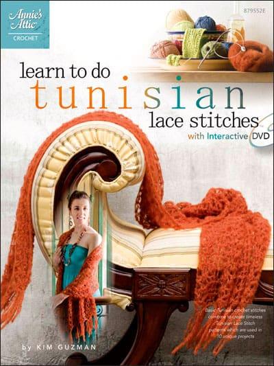 CrochetKim Weekly Giveaway: Learn to Do Tunisian Lace Stitches by Kim Guzman
