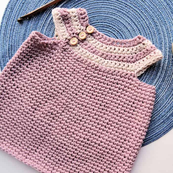 Desert Willow Baby Infant Dress Free Crochet Pattern Crochetkim