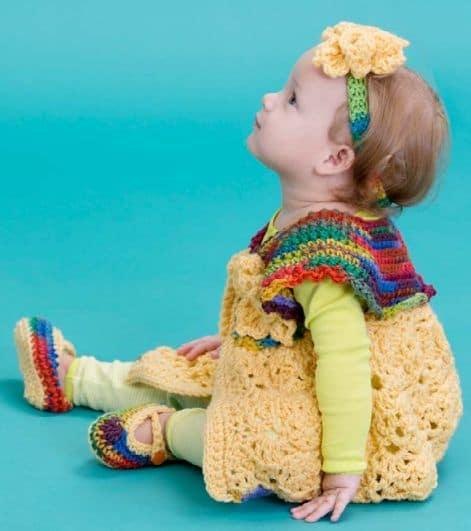 Fall Baby Sweater Set CrochetKim Free Crochet Pattern