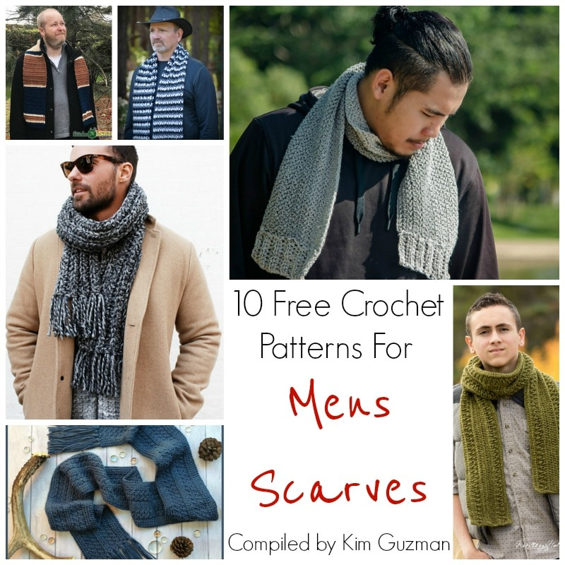 39a9088509f2 Link Blast  10 Free Crochet Patterns for Men s Scarves
