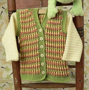Turning Stone Baby Hoodie   CrochetKim Free Crochet Pattern